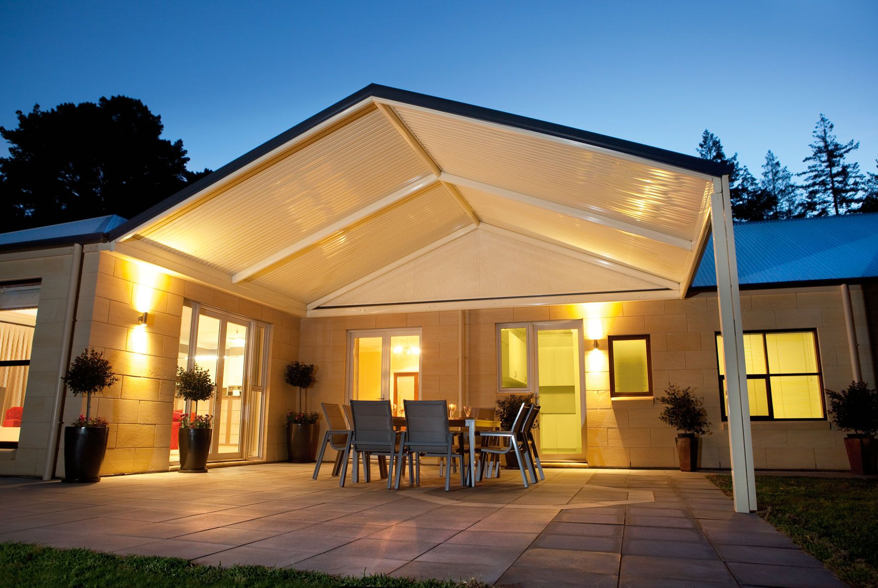 Outback Gable Stratco Porch Roof Styles Carport Designs Roof Styles