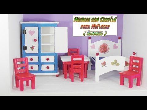 Muebles de cart n para casas de mu ecas tutorial armario for Muebles casa de munecas