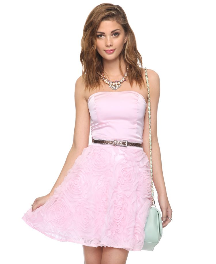 Blooming Roses Strapless Special Occasion Dress Forever21