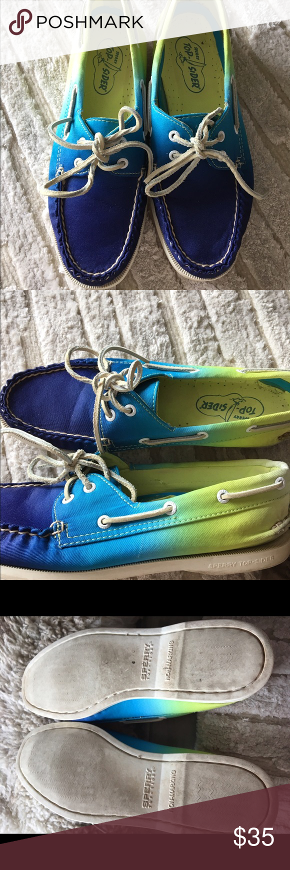Speedy Topsiders - size 8 Ombré Sperry Topsider boat shoes casual loafers. Excellent used condition. Worn only a few times. Size 8 Sperry Top-Sider Shoes Moccasins