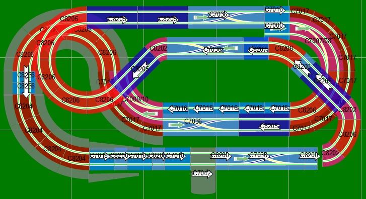 Page 10 of 14 - New Digital 8x4 Track Designs - posted in Tracks & Scenery: FishyDelishy - this is the final version I'm going with, pretty similar to your #129 post Have you decided on the final version you're going to build?It's a great track to race on and I think will stay interesting for a long time, only minor issue at the moment is that it's first left-to-right I've built but getting used to it. It's ~35 feet long and plenty of overtaking possibilitie......