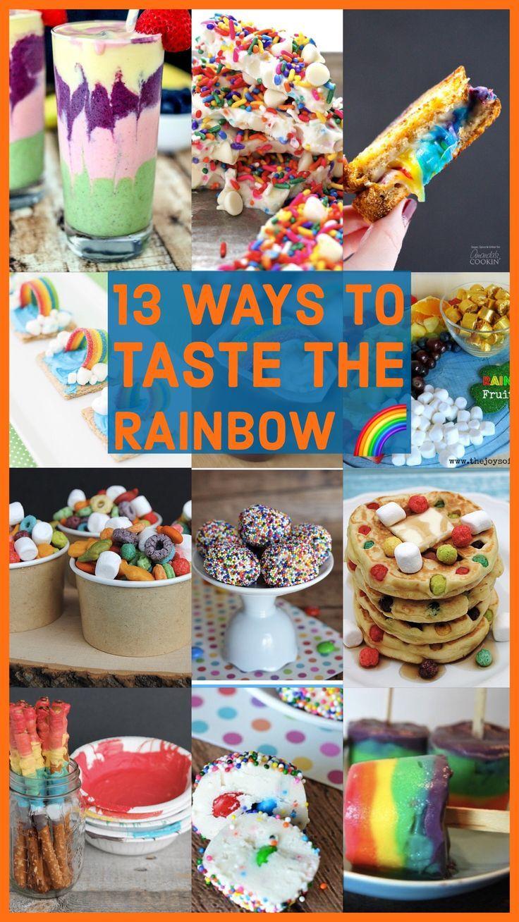 13 Ways to Taste the Rainbow. Your kids will love