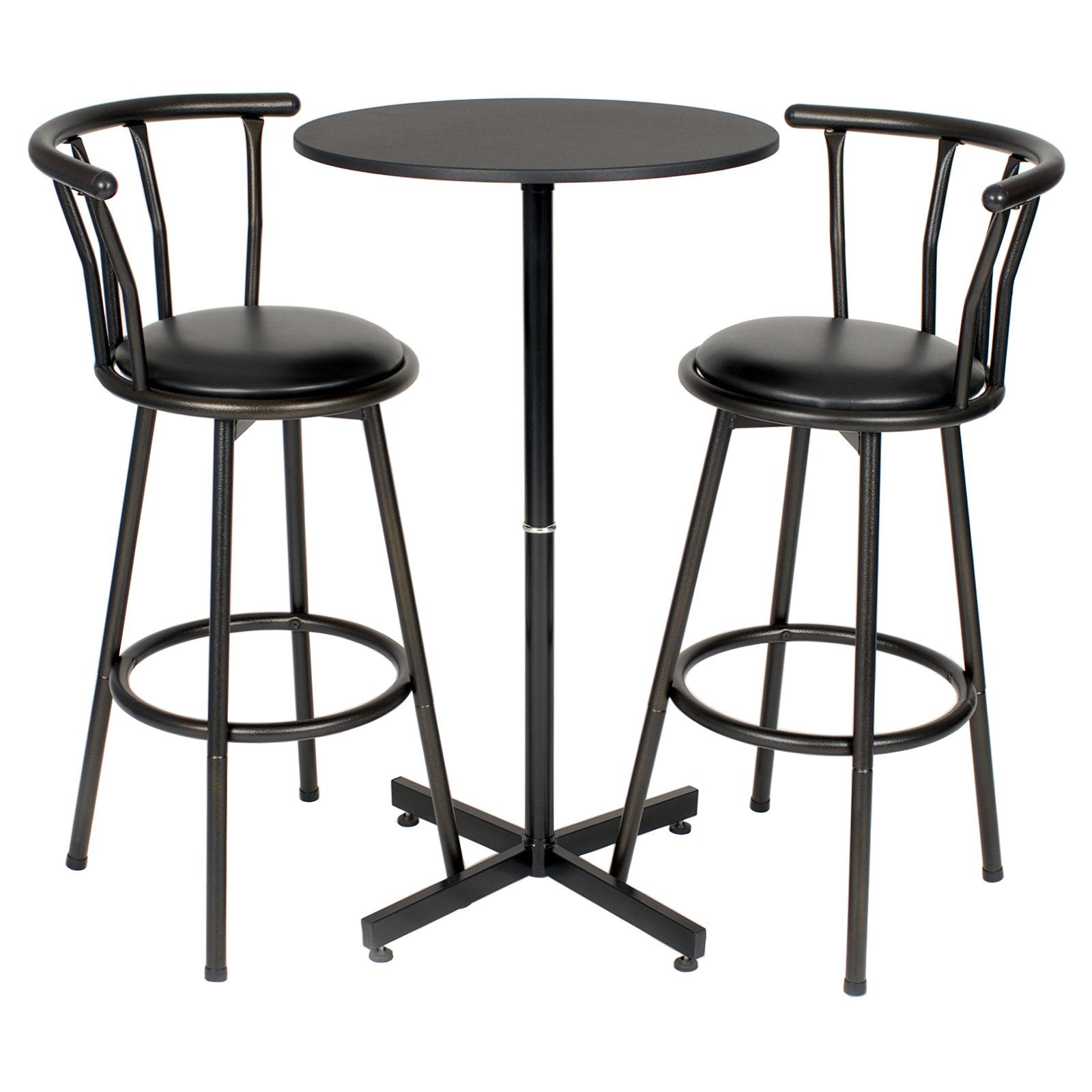 Brilliant Roundhill Furniture Nor Hill 3 Piece Bar Height Table Set Ibusinesslaw Wood Chair Design Ideas Ibusinesslaworg