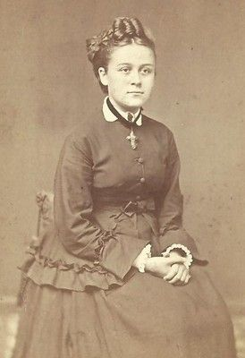 CDV Photo Beautiful Young Victorian Girl Nicely Dressed Crucifix Necklace |  eBay | Victorian, Crucifix necklace, Photo
