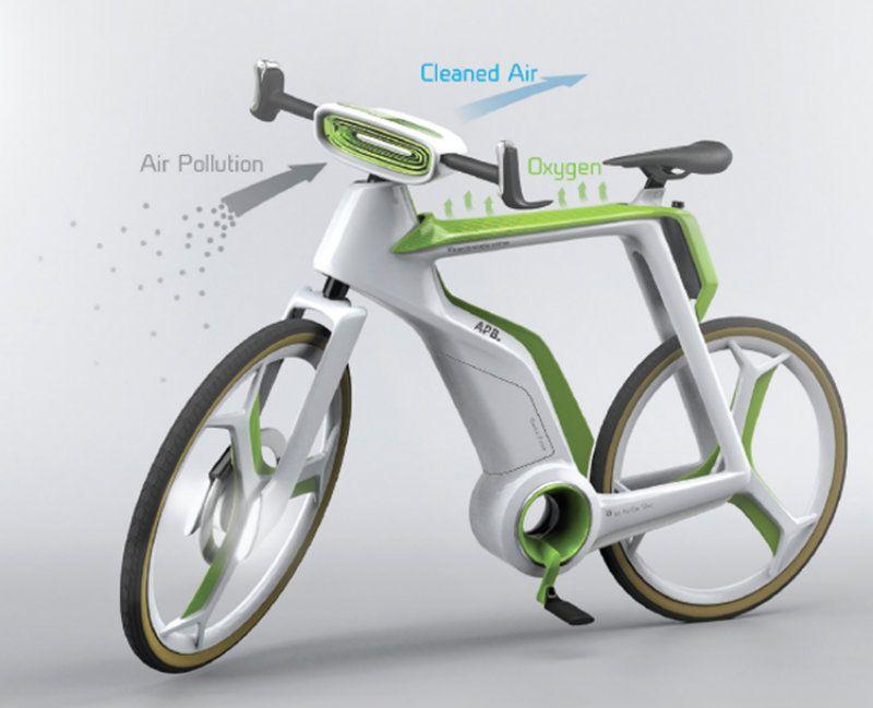 Designers criam projeto de bicicleta que purifica o ar em processo semelhante à fotossíntese.