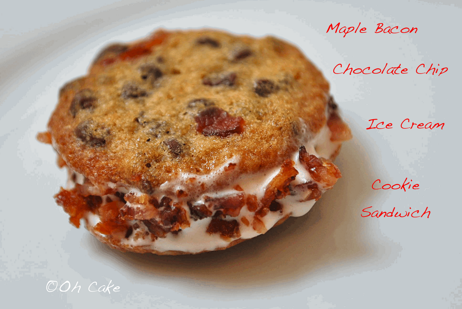 Oh Cake: Maple Bacon Chocolate Chip Ice Cream Sandwich Cookies
