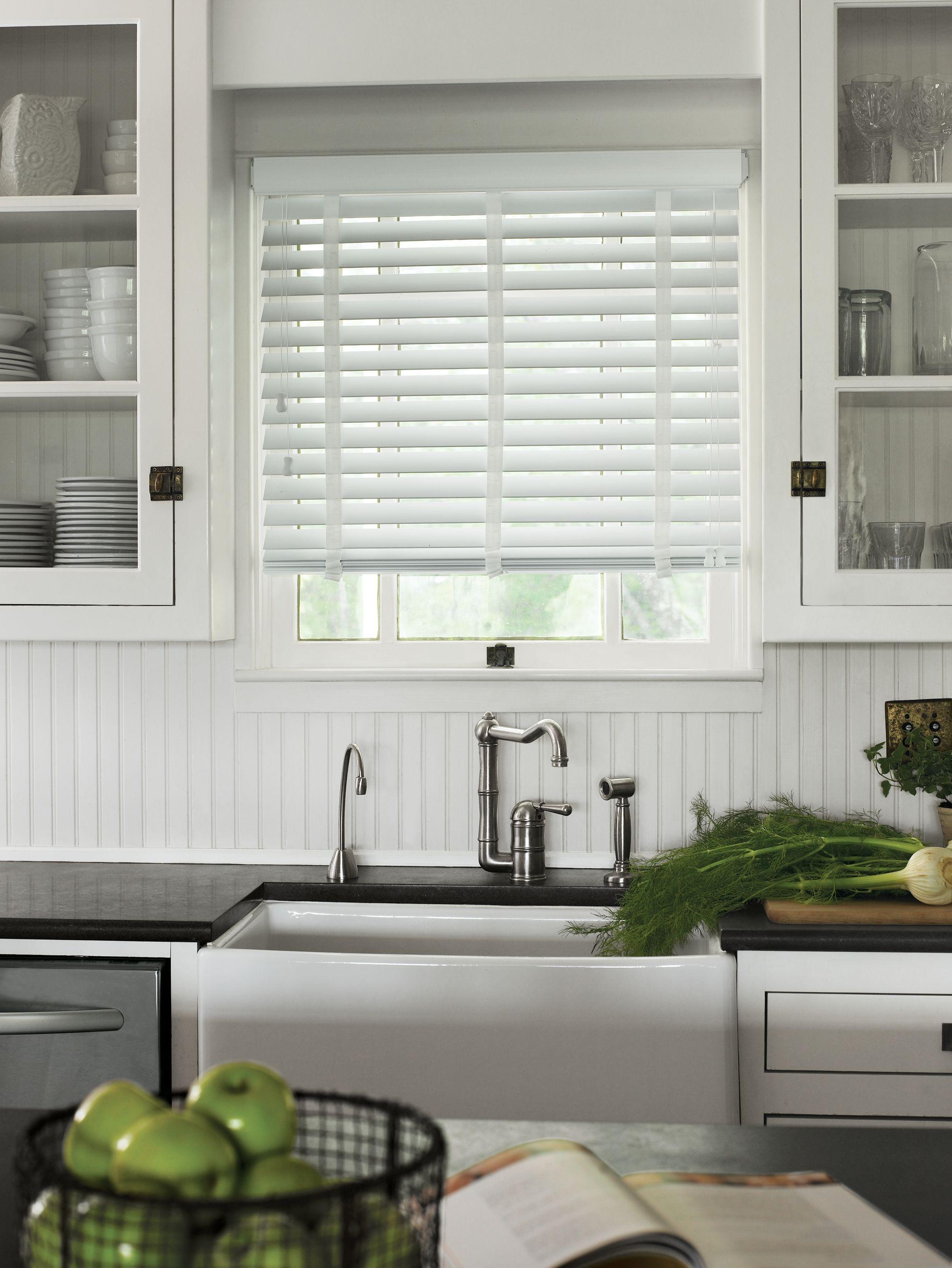 Wood Blinds In 2020 Modern Kitchen Window Kitchen Window