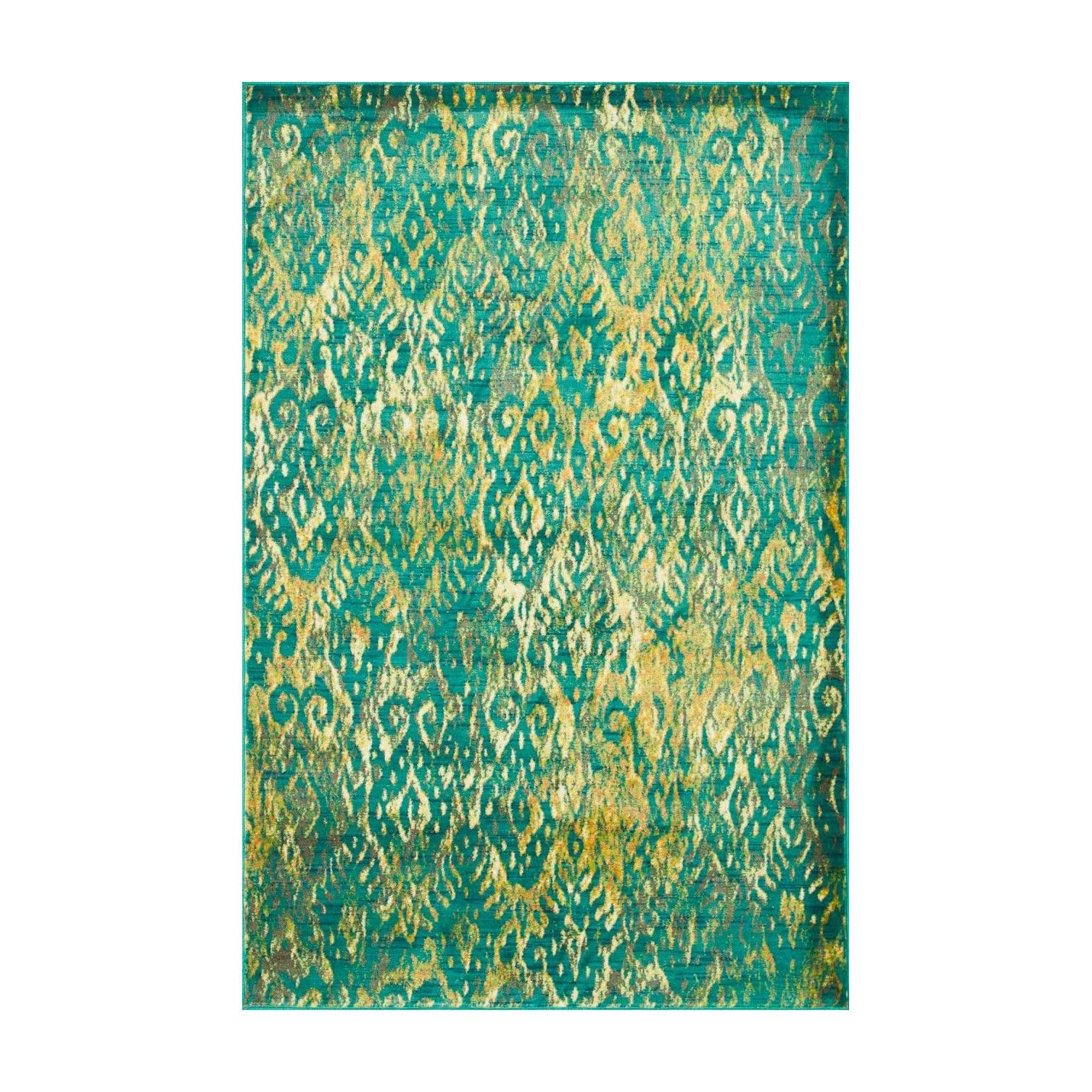 Golden Leaf Rug Dotandbo Com Area Rugs Yellow Area