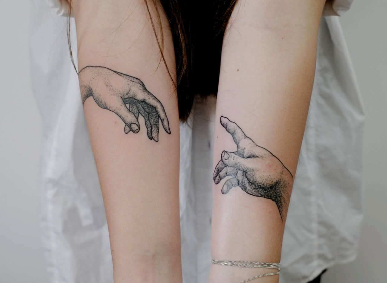 Tattoo Re Creations Of Famous Works Of Art Hand Tattoos Tattoos Ink Tattoo