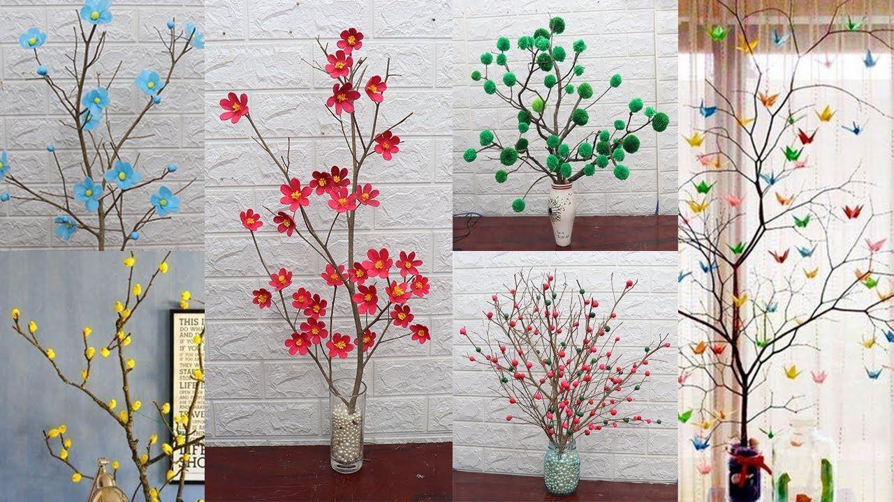 10 Tree Branches Decoration Ideas Home Decorating Ideas Handmade Easy Youtube Tree Branch Decor Branch Decor Tree Plan
