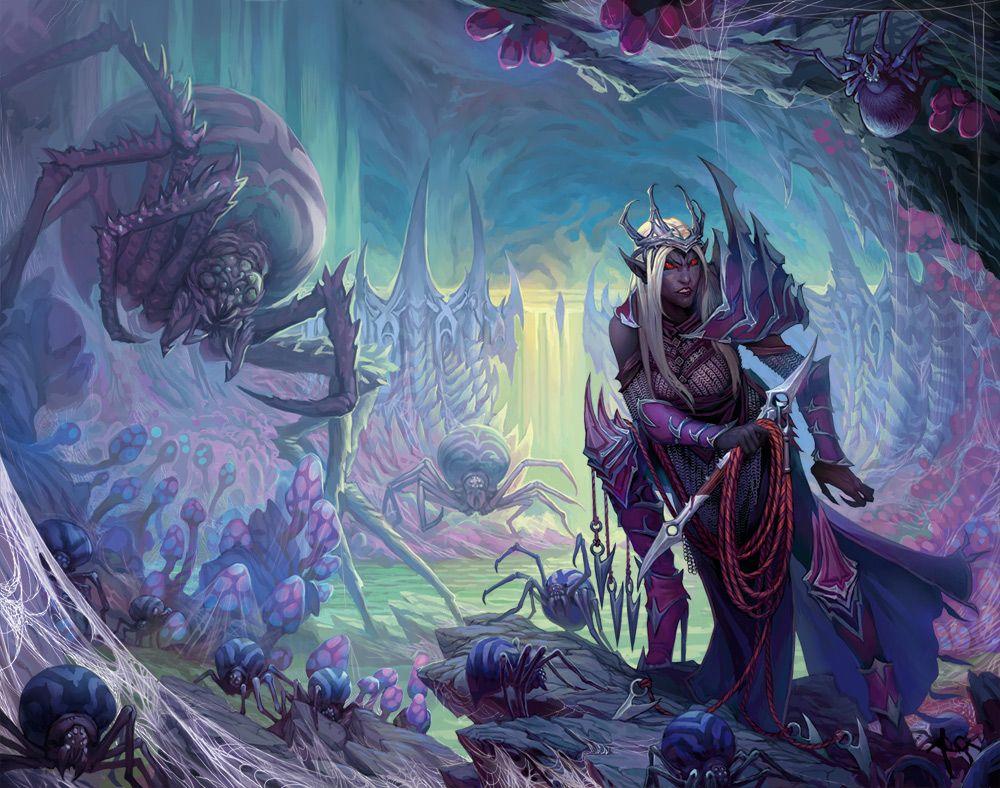 Menzoberranzan City in the Underdark | Underdark | Dark elf