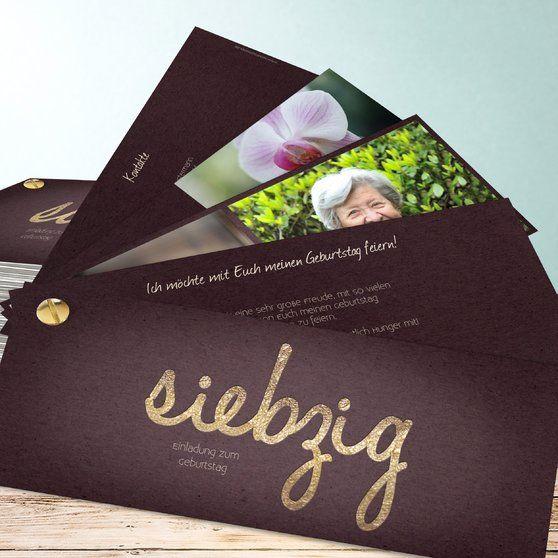 Einladungskarten 70 geburtstag selbst gestalten karten geburtstag runder geburtstag und - 70 geburtstag geschenk selbstgemacht ...