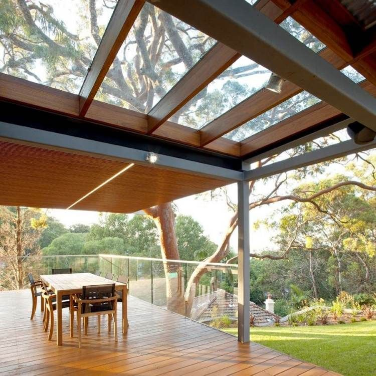 Toiture transparente pour terrasse avec cadre en aluminium | Toiture transparente, Toit pergola ...