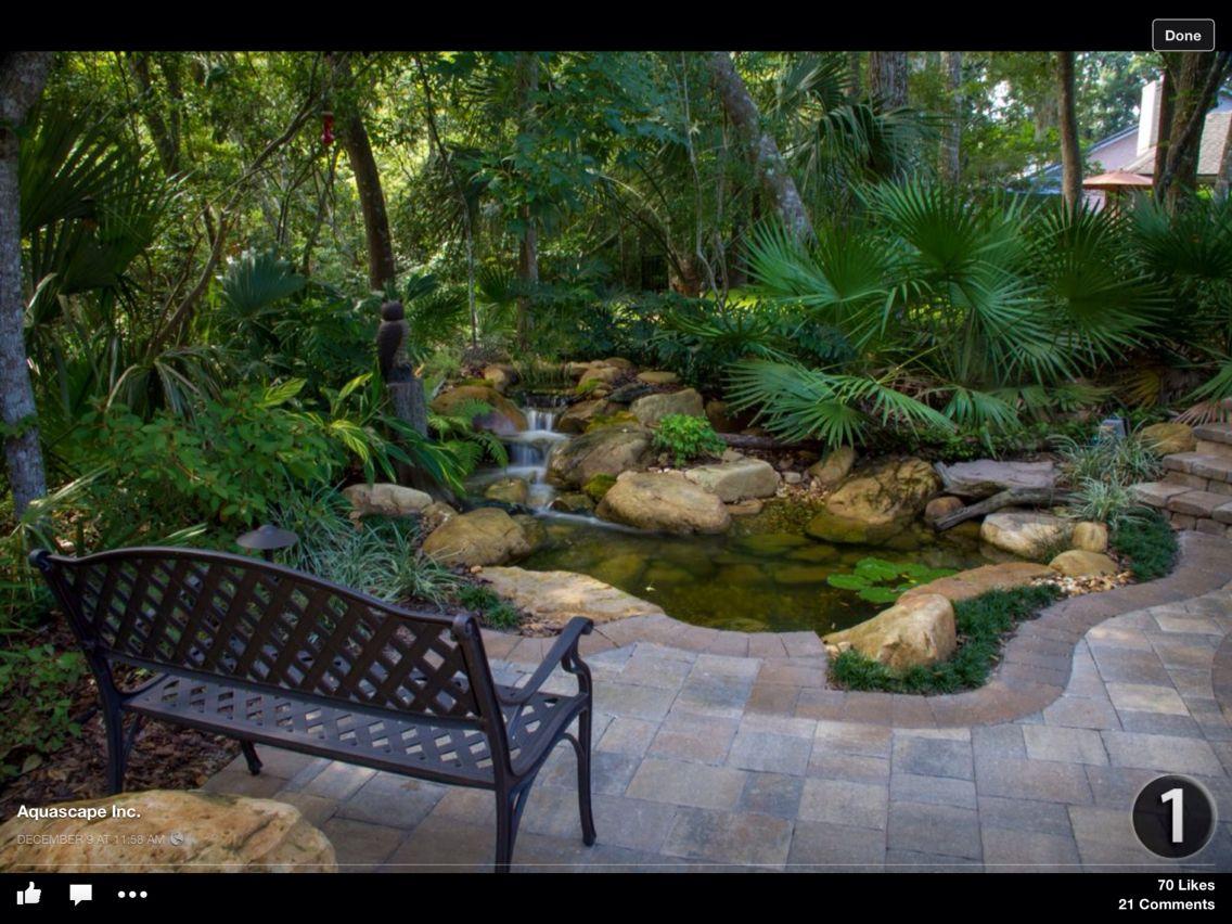 By Aquascape Ponds Backyard Backyard Water Feature Backyard
