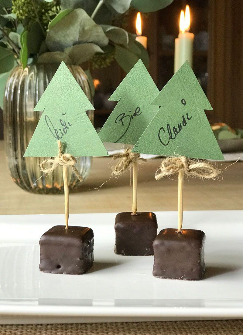 Tischkärtchen  #weihnachtlichetischdekoration