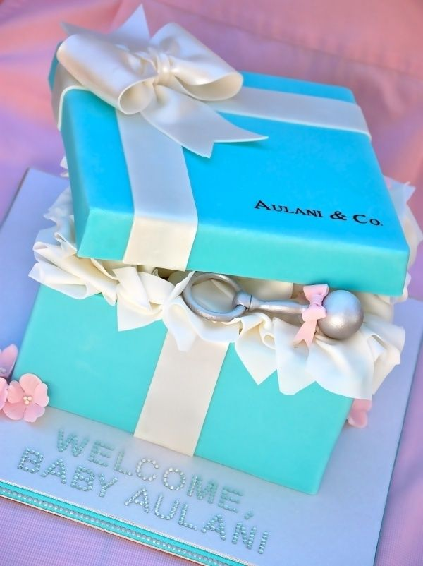 Tiffany Blue For A Boy Baby Shower. I Like The Idea Of Tucking A