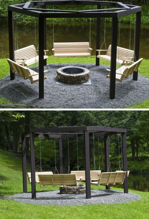 Photo of Fire Pit Swing Set – What's Better Than Sitting Around A Campfire, Drinking Beer…
