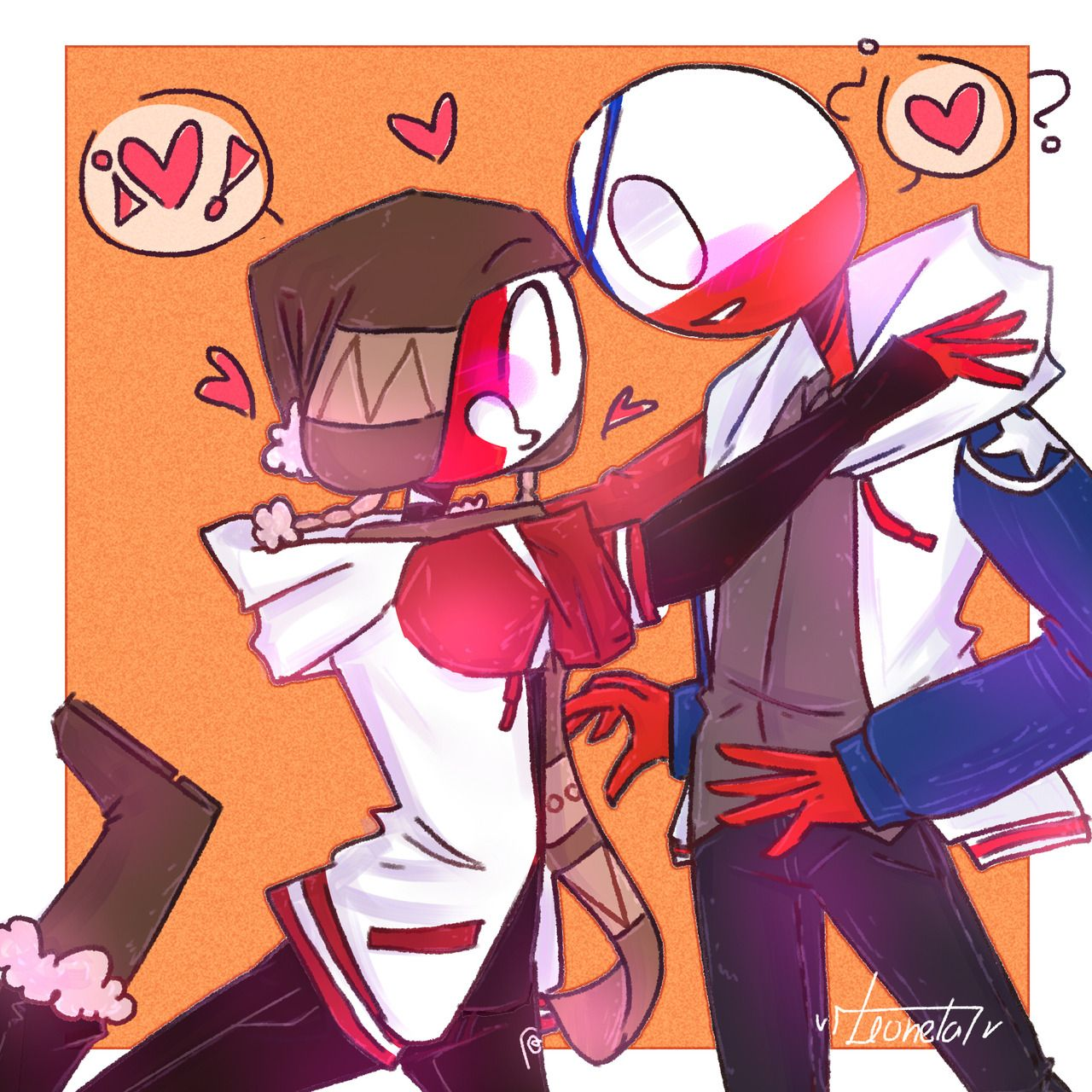 Chile X Peru Peru Countryhumans By Queendrawing Tumblr Country Art Anime Country Memes