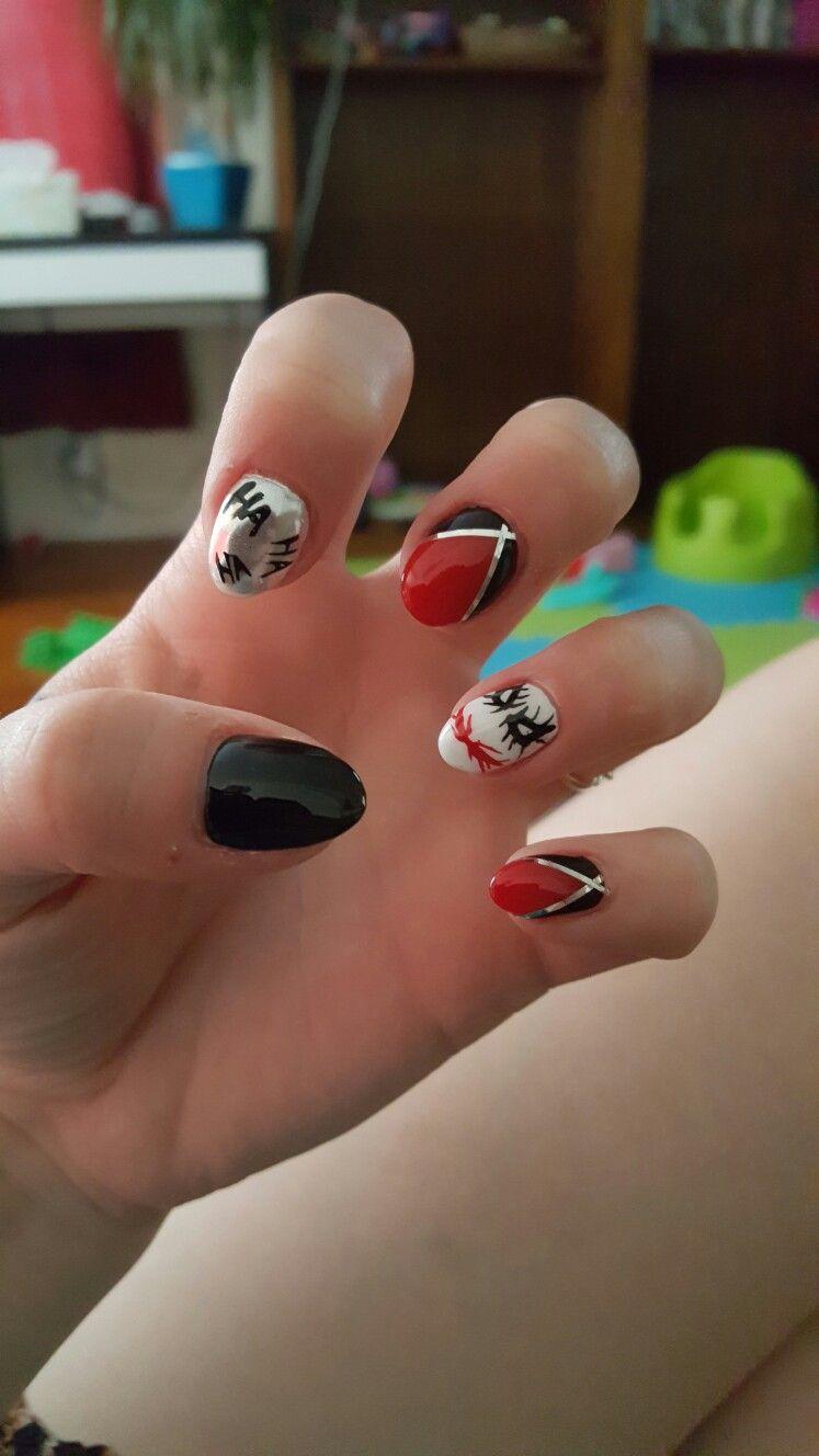 The Joker and Harley Quinn | Nail art | Pinterest | Nagelschere