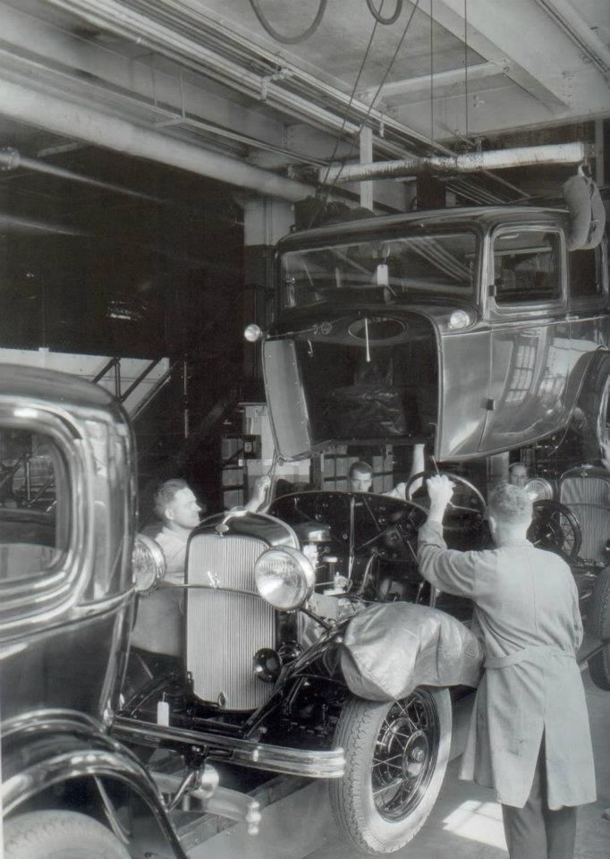 Ford Assembly Line Americas First Billionaire Knew What It Took To Succeed Not Suprisingly He Did Not Believe I Vintage Cars Ford Classic Cars Classic Cars
