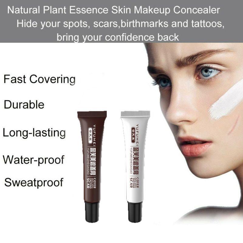 2pcs tattoo cover skin scar birthmark concealer waterproof