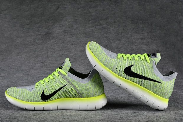 sports shoes f2ce3 c3978 achat Nike Free Rn Flyknit 2016 Wolf Grey Volt 831070 007