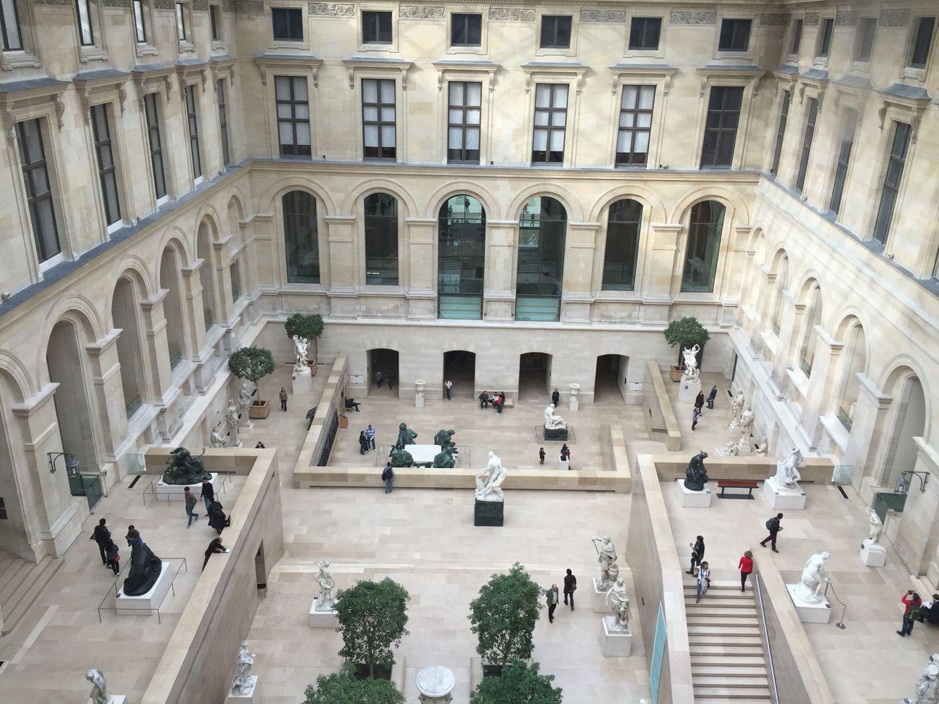 Le Louvre, vue sur cour | Mon Paris | Pinterest