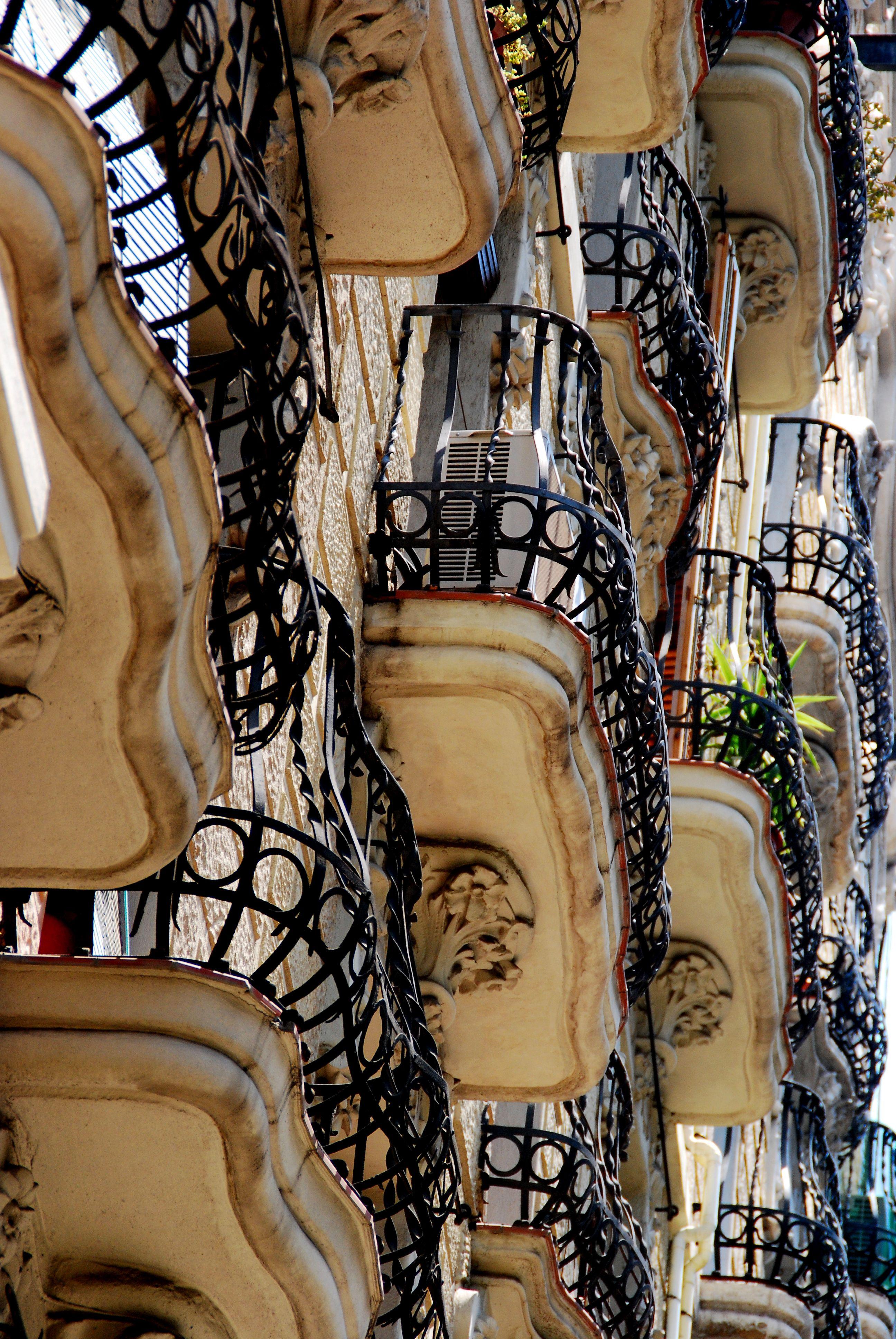 Barcelona balconies.