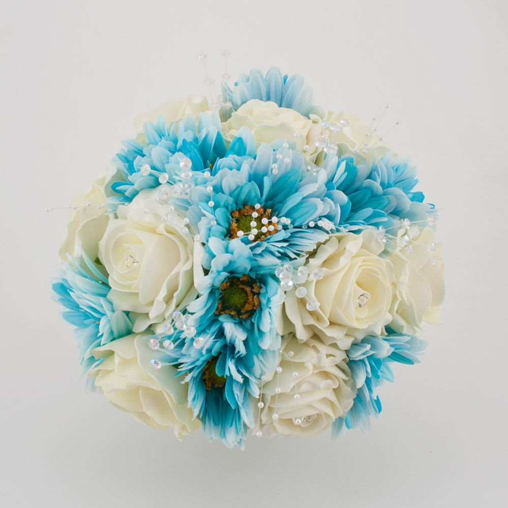 Aqua Silk Wedding Flowers To Buy Wedding Bliss I Imagine