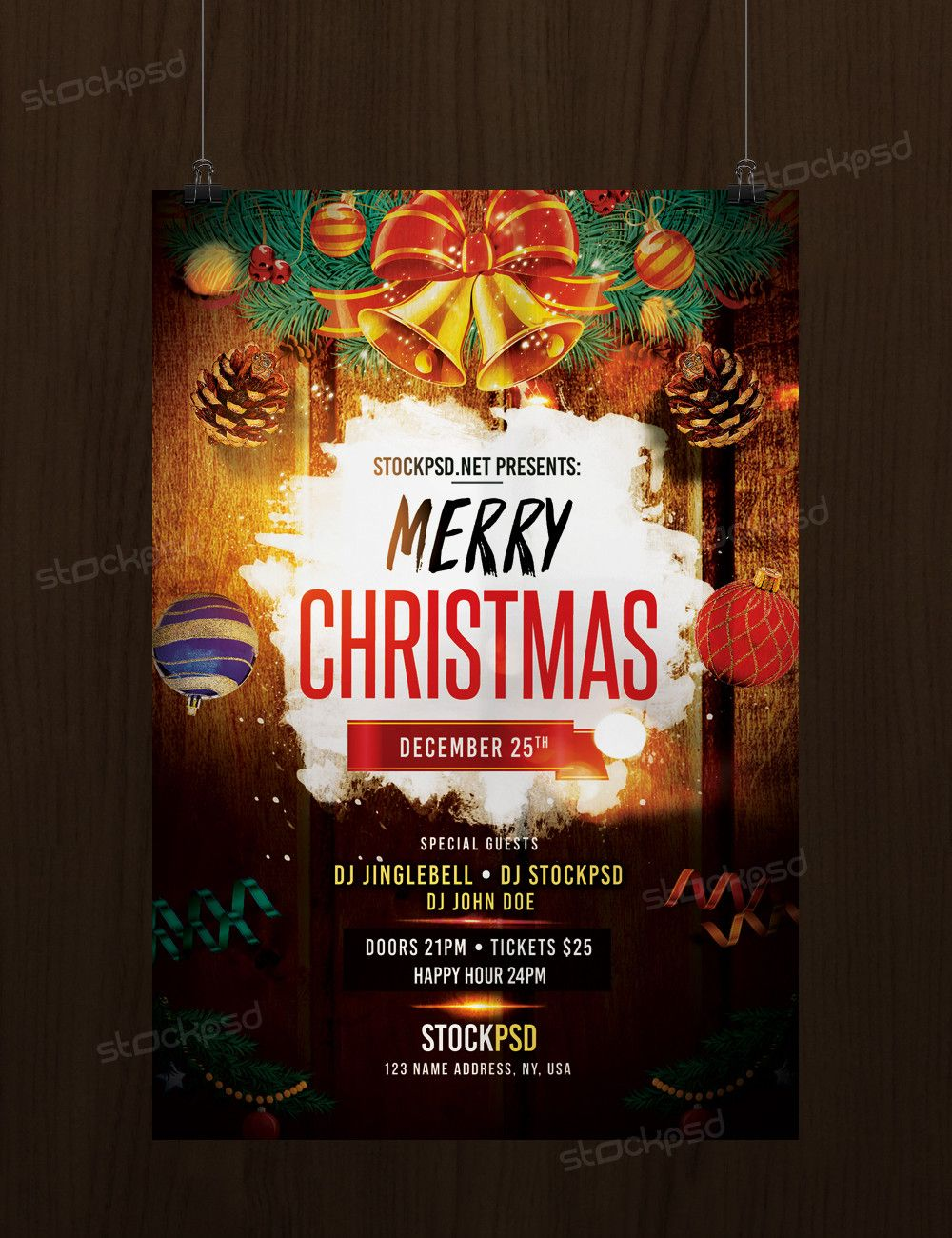 Download Merry Christmas Free Psd Flyer Template Free