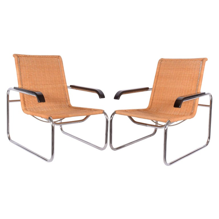 Pair of B35 Marcel Breuer Easy Chairs at 1stdibs Wassily