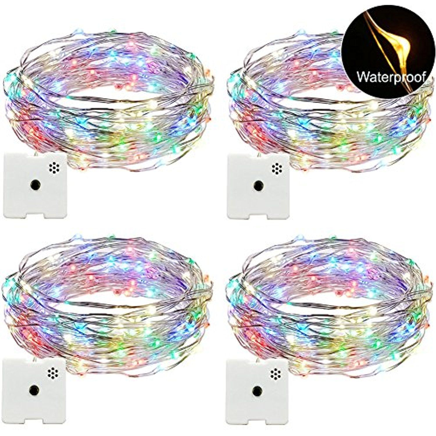 Christmas Lights and Gifts Pack of 4pcs 16 ft and 200 Blinking LED