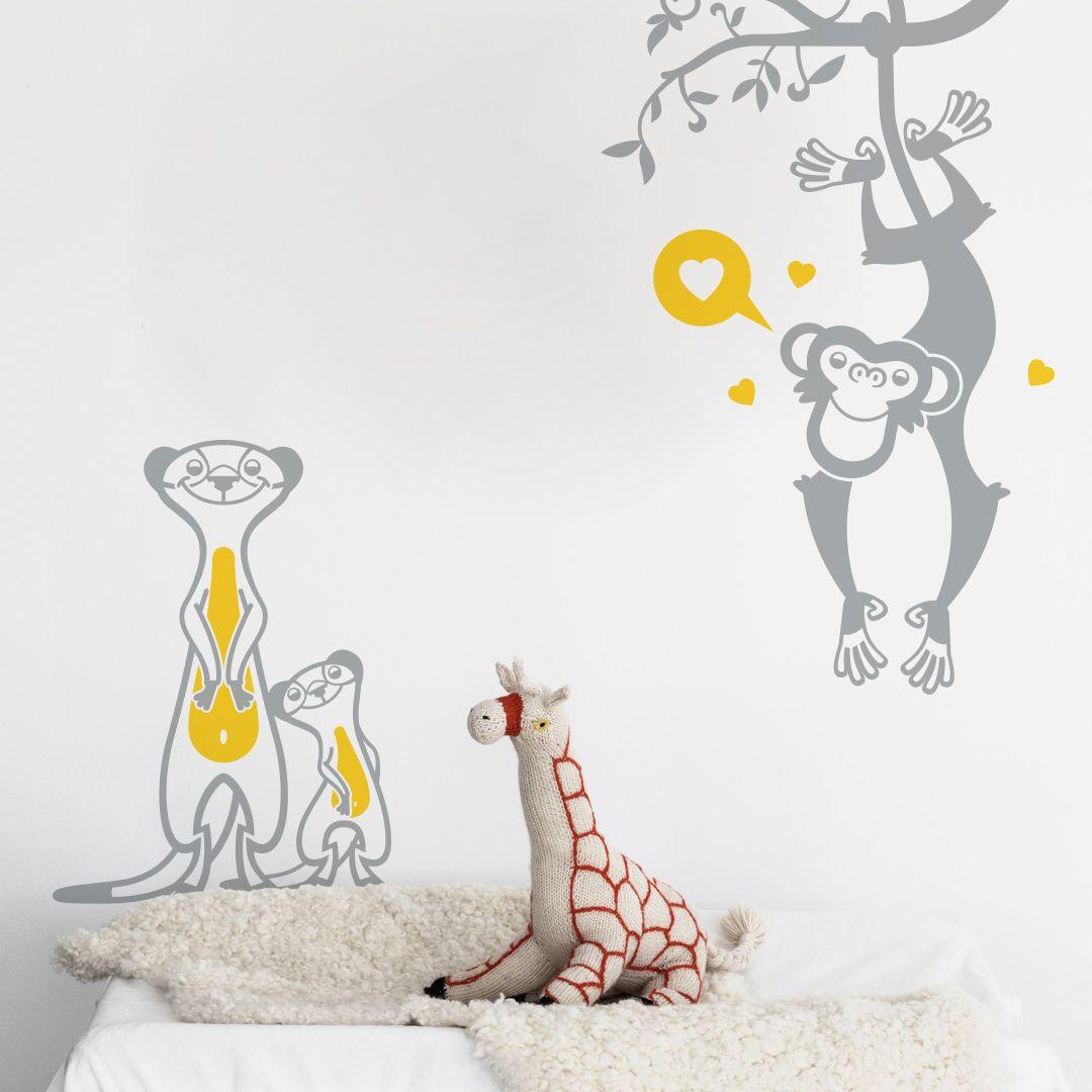 Stickers Muraux Chambre Bébé stickers enfant savane | stickers muraux, stickers enfant et