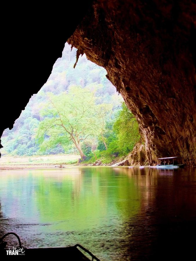 Looking from the Puong cave