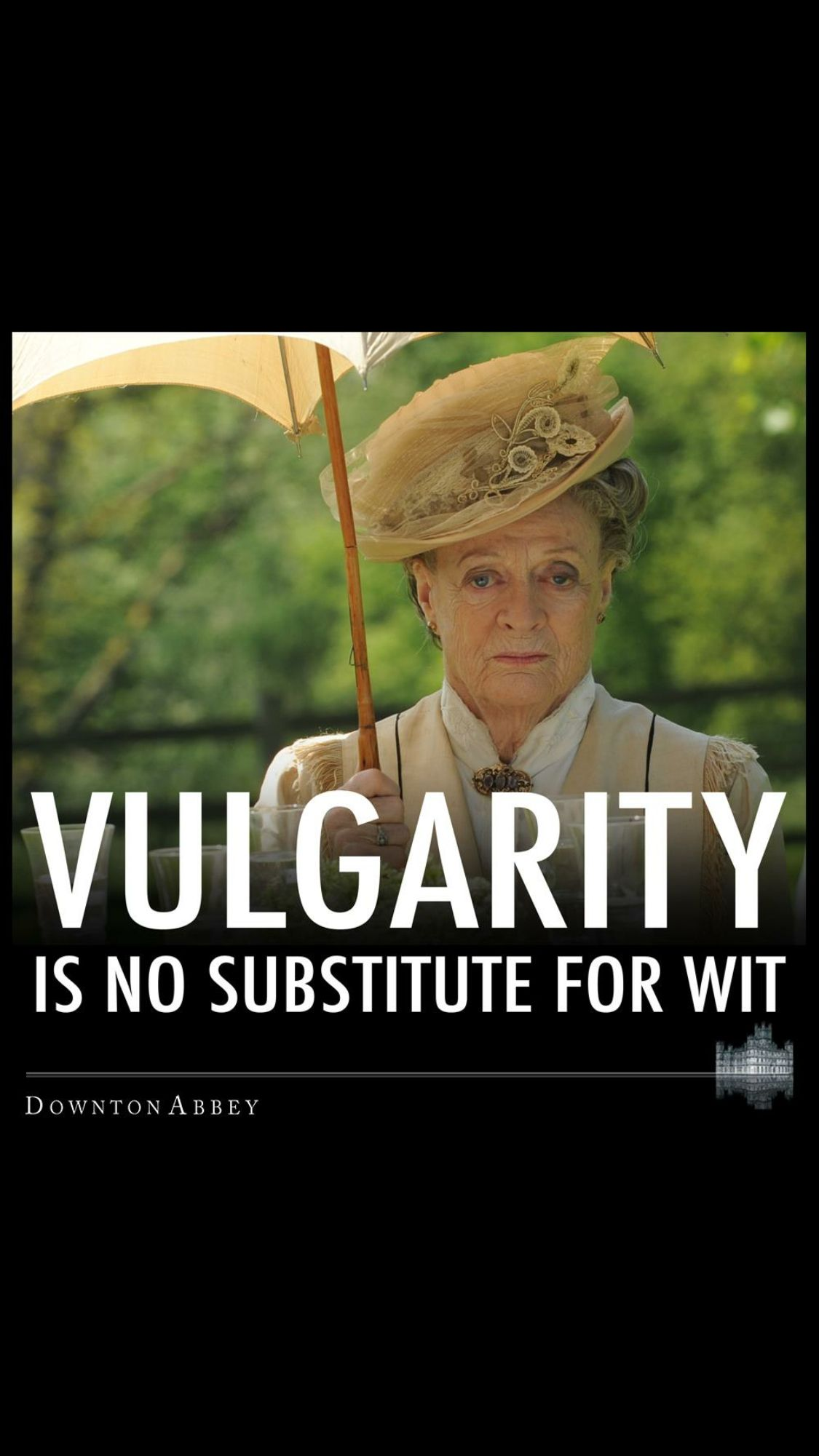 Vulgarity to is not a Substitute for Wit