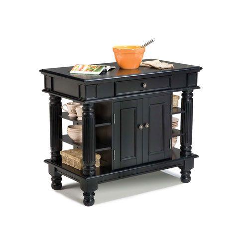 Home Styles Furniture 5092 94 Americana Kitchen Island In Black Contemporary Modern Bellac In 2021 Black Kitchen Island Americana Kitchen Farmhouse Kitchen Island