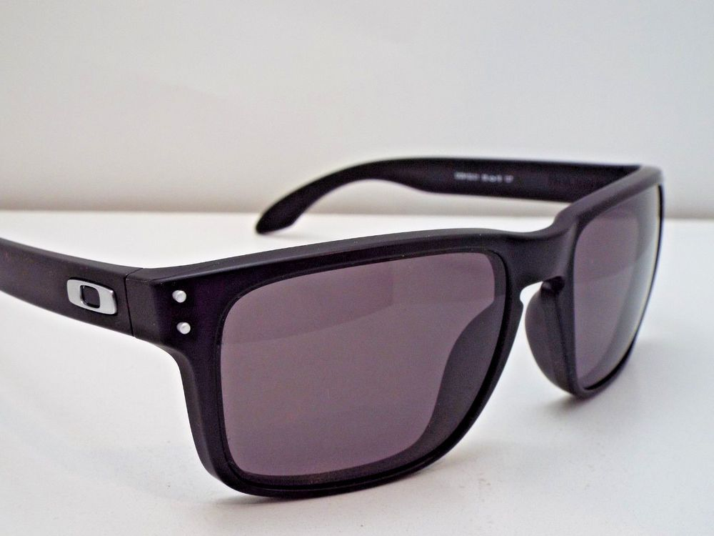 f2559a43bc Authentic Oakley Holbrook OO9102-01 Matte Black Warm Grey Sunglasses   fashion  clothing  shoes  accessories  mensaccessories ...