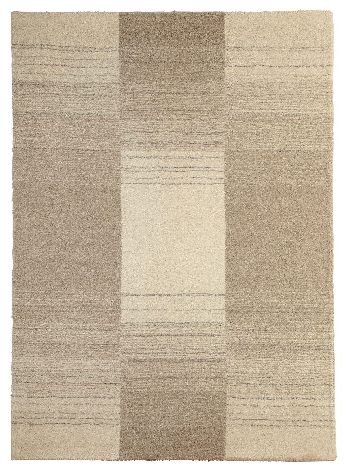 Colours Farrah Cream Grey Striped Rug L 1 7m W 2 M
