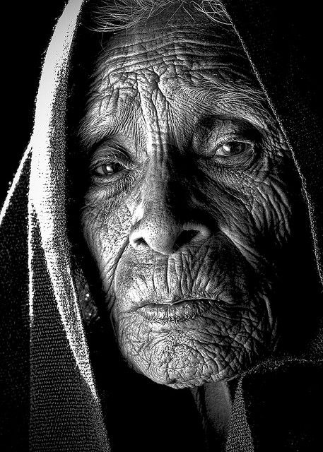 a story in every wrinkle....probrably a fasinating life she has had