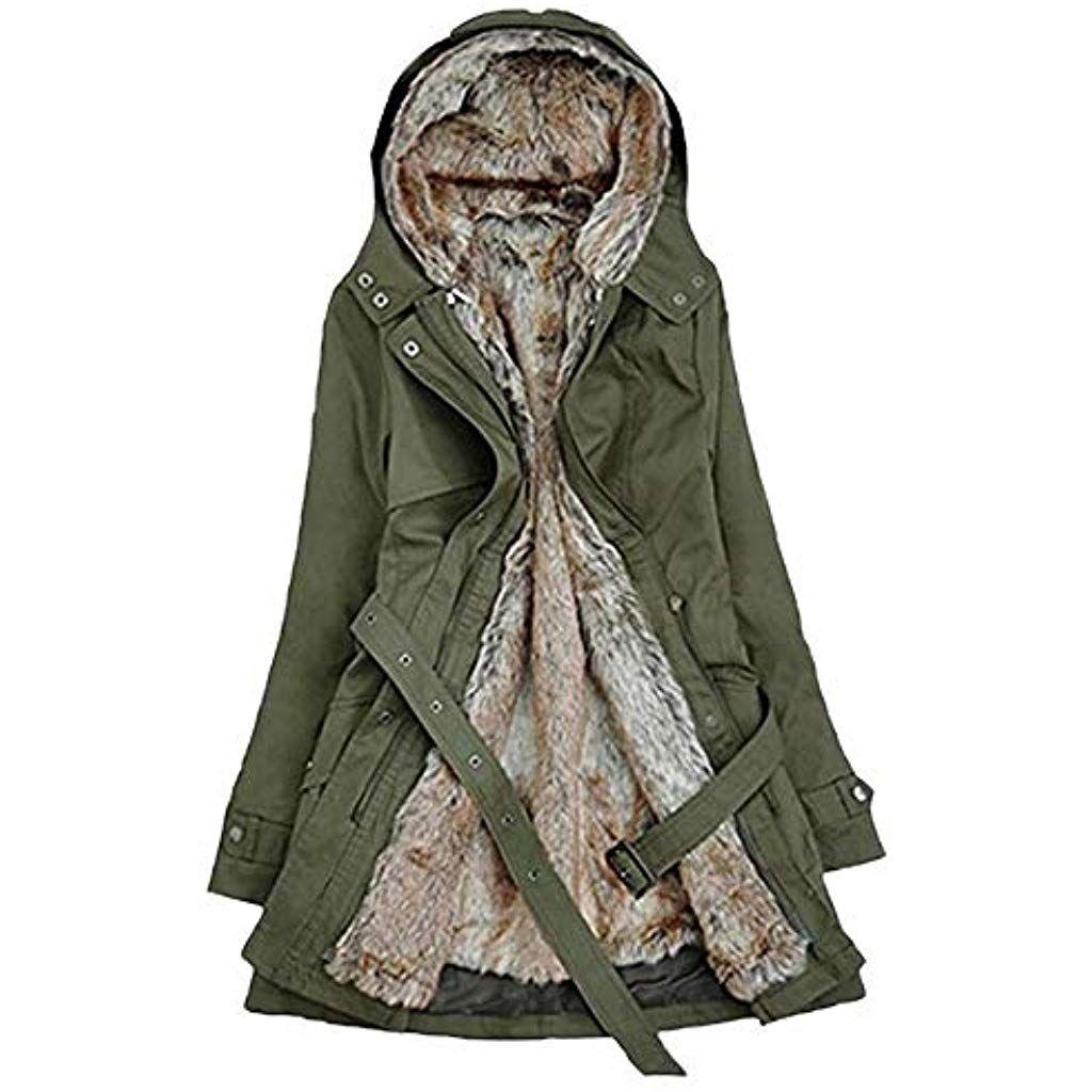 LIUYUEKAILIN Mantel Winter warme Frauen schwarzen