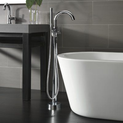 Delta Trinsic Single Handle Floor Mounted Freestanding Tub Filler