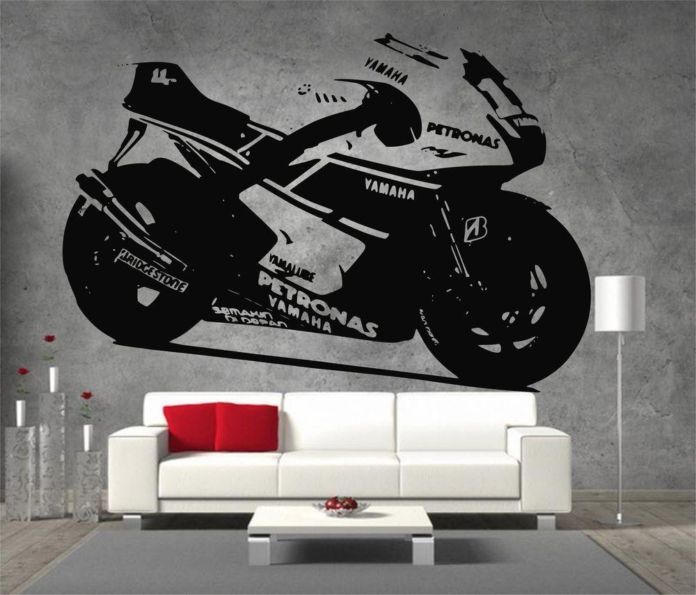 p51 mustang ww2 warbird american aeroplane extra large vinyl yamaha petronas moto gp racing motor bike large vinyl sticker wall art
