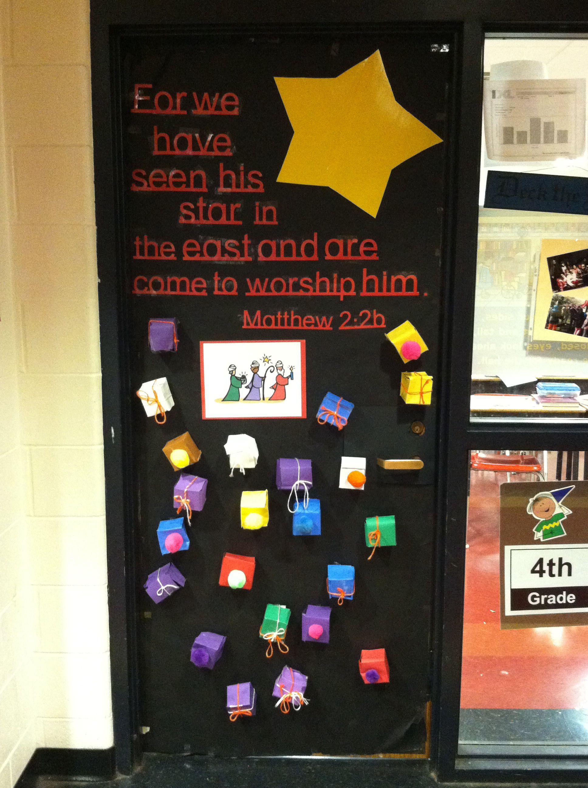 4th grade door decorations Christmas Pinterest