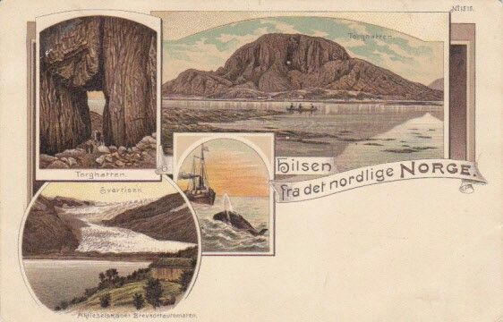 NORDLAND: Hilsen fra det nordlige Norge (motiv fra Nordland) utg Brevkortautomaten