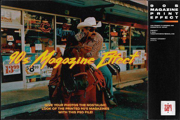 90s Magazine Print Effect By 2ø7art By 2ø7art By Eid Fayiz On