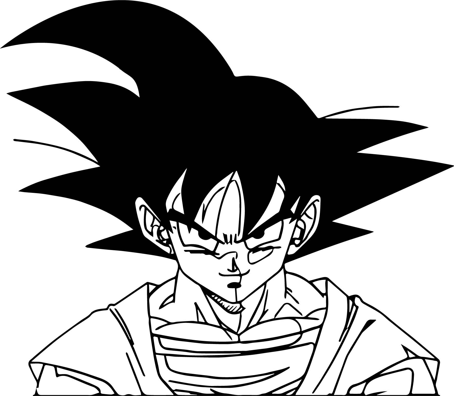 Cool Goku Smile Face Coloring Page Coloring Pages Smile Face Goku