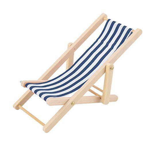 Longue Bois 112 Poupée Chaise Miniature De Maison Rayure Pour En 0vmnwN8
