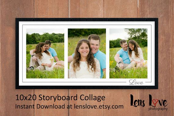 PHOTOSHOP COLLAGE TEMPLATE (PSD) This digital product is for a - photography storyboard sample
