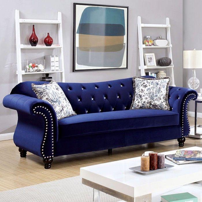 Jolanda Blue Sofa Shop For Affordable Home Furniture Decor Outdoors And More Blue Fabric Sofa Furniture Sofa Set