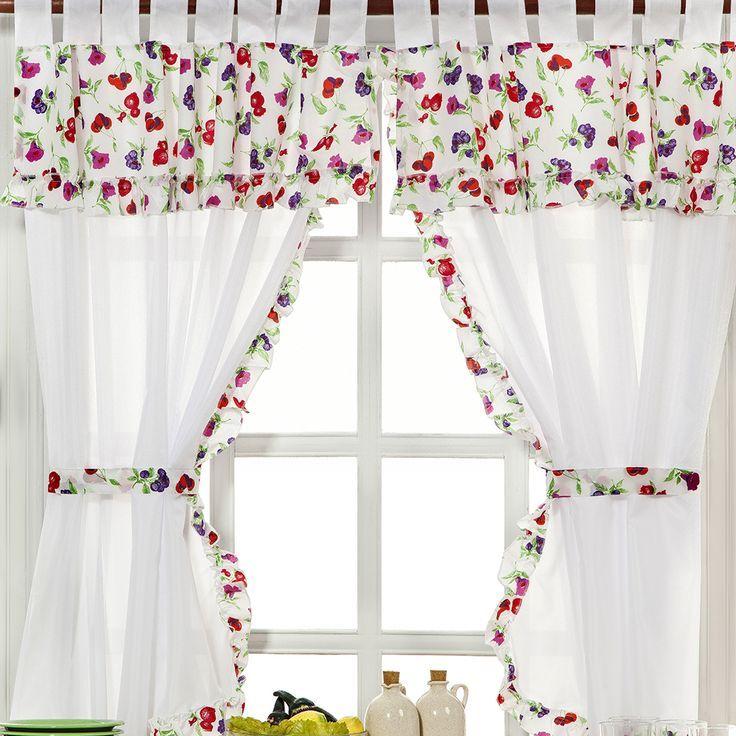 Resultado de imagen de bando y cortinas para puerta cocina - cortinas para cocina modernas